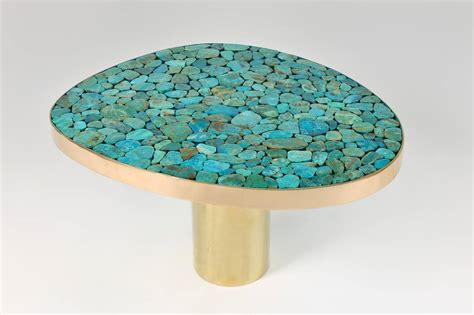 turquoise table l coffee table by kam tin for at 1stdibs
