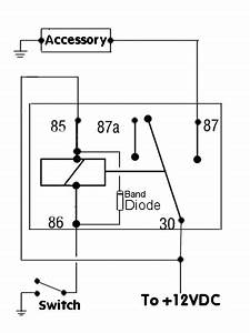 negative switched relay schematic diagram automotive With 5 pin relay switch
