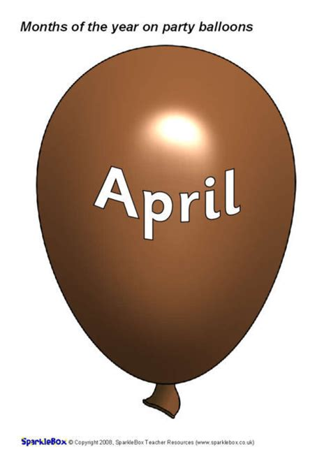 months   year  party balloons sb sparklebox