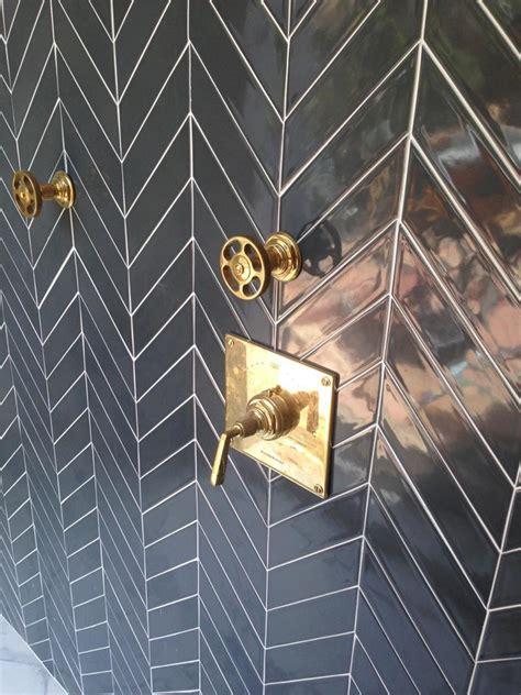 Chevron Bathroom Ideas by Ceramic Chevron Subway Tile Grey Carbon Modwalls Tile