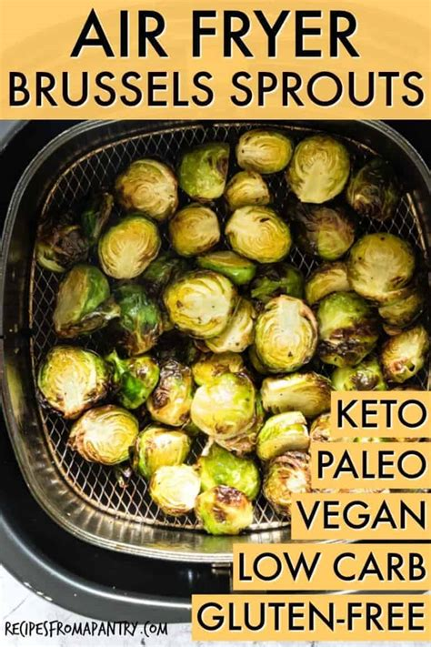 air fryer sprouts brussel crispy keto recipes paleo whole vegan brussels carb gluten tutorial low
