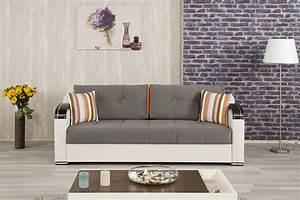 Divan deluxe golf gray convertible sofa bed by casamode for Divan sofa bed