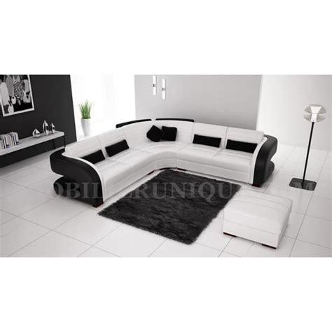 canape angle pas cher design canapé d 39 angle cuir blanc et noir design pas cher achat vente canapé sofa divan cuir