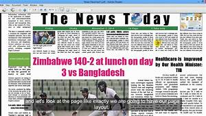 Lesson 20 4 Creating A Newspaper Layout Design In Adobe