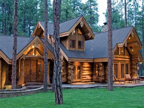Log Cabin Home Log Homes Floor Plans Cabin, Modern Log