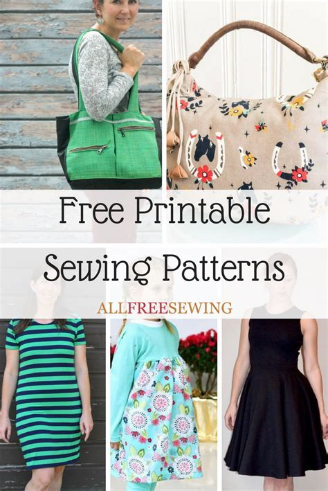 printable sewing patterns allfreesewingcom