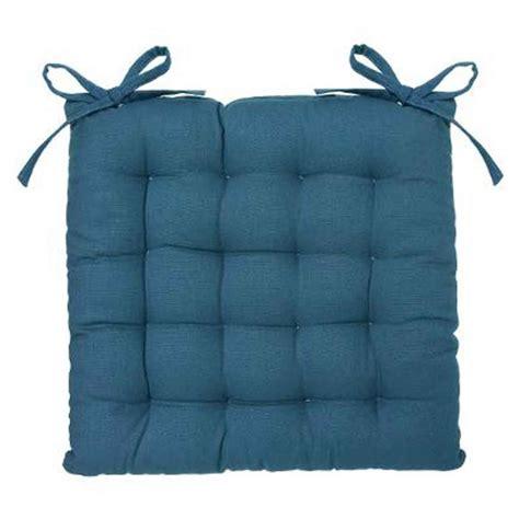 chaise bleu canard coussin de chaise 38x38cm bleu canard