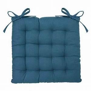 Coussin Bleu Canard : coussin de chaise 38x38cm bleu canard ~ Teatrodelosmanantiales.com Idées de Décoration