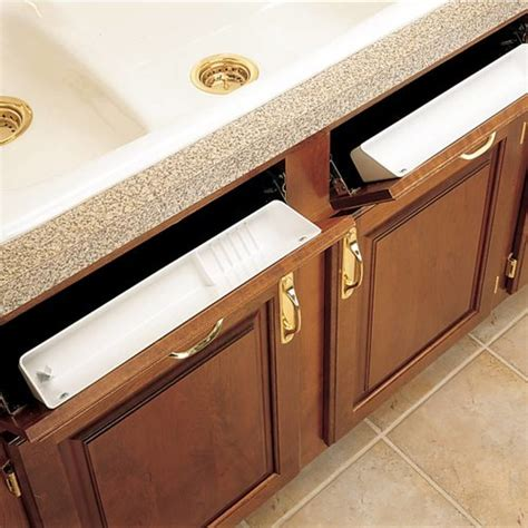 kitchen cabinet sink drawer rev a shelf standard and accessory sink trays with hinges 5768