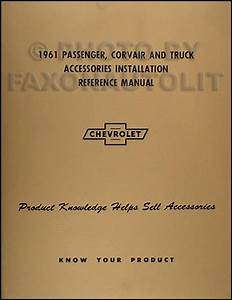 1961 Chevy Corvair And Monza Assembly Manual Reprint