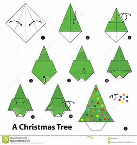 Step Bystep Instructions How To Make Origami A Christmas
