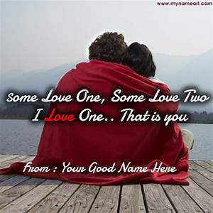 Write Your Name On Romantic Quotes Image | wishes greeting ...