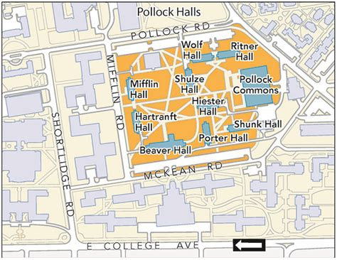 directions to nittany parking deck housing area maps penn state park housing