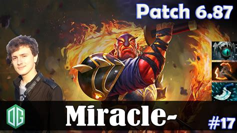 dota 2 patch 6 87 miracle ember spirit mid pro mmr gameplay youtube
