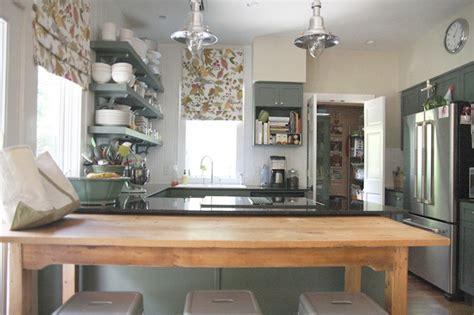green kitchen cabinets cottage kitchen sherwin