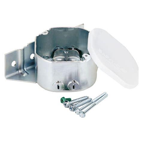 ceiling fan mounting box 21 5 cu in remodel ceiling fan sidemount plus fan box