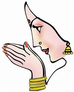 Hindu clipart indian welcome hand - Pencil and in color ...