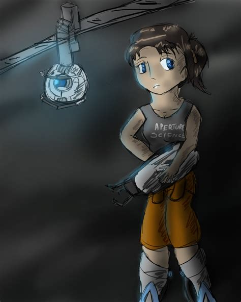 Portal Chell And Wheatley By Kranaylee On Deviantart