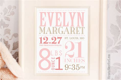 free birth announcement template baby announcement subway how to nest for less