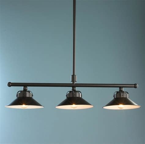 industrial inspired cone shade island chandelier l