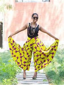 pantalon large effet jupe pour femme en pagne wax africain With robe en coton pour femme