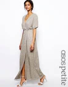 asos petite asos petite sequin kimono sleeve maxi dress