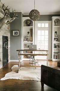20 Farmhouse Home Office Design Ideas - Interior God