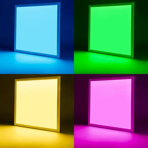 rgb led panel light   dimmable  glow light