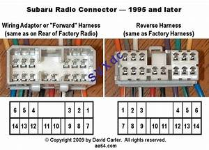 Connector Or Adapter   Subaru Radio Wiring Diagrams From