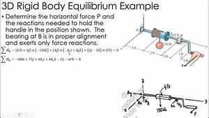 Statics Example  3d Rigid Body Equilibrium