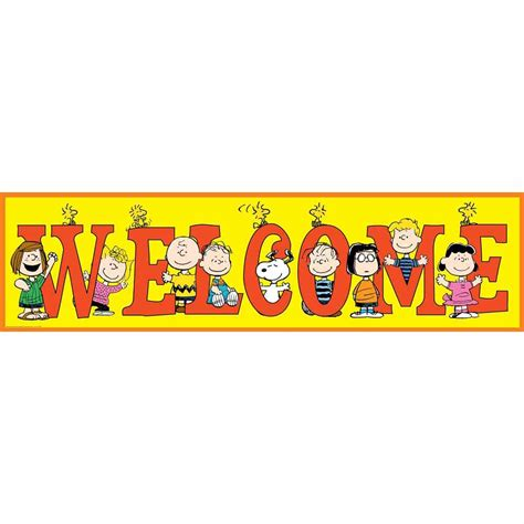 Peanuts General Welcome Classroom Banners  Eureka School. Celebratory Banners. Cancer Infographic Signs. Lakhani Logo. Egyptian Lettering. Giant Cell Signs. Toes Signs. Moist Signs. Symptom Mental Illness Signs Of Stroke