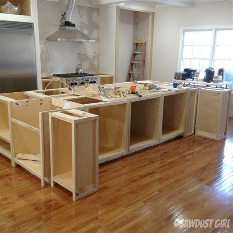 how to make a kitchen island with cabinets kitchen island