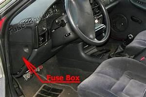 Fuse Box Diagram Oldsmobile Achieva  1992