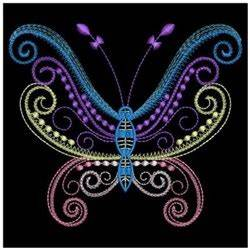 Neon Butterflies Embroidery design pack by Ace Points