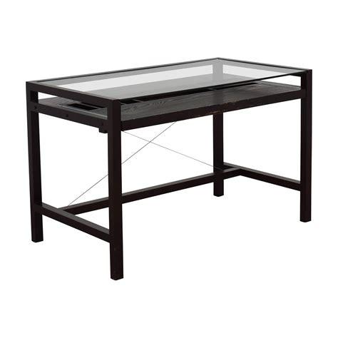 crate and barrel desk l 83 crate and barrel crate barrel glass and wood
