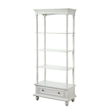 White Etagere by Channing 1 Drawer 3 Shelf Antique White Etagere
