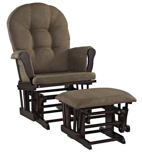 Chocolate Glider And Ottoman by Galleon Line Glider And Ottoman Set