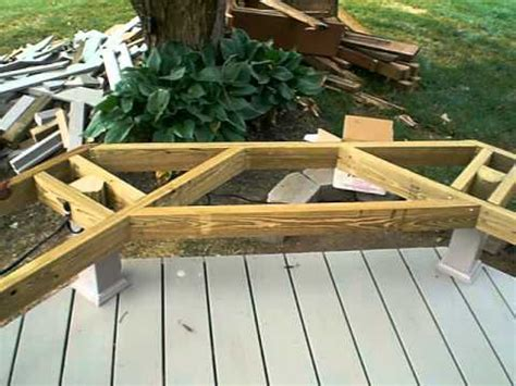 framing   deck bench youtube