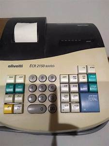 Olivetti Ecr 2150 Cash Register With Operating Manual