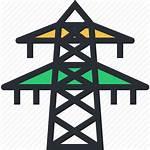 Icon Pole Electric Electricity Power Pylon Transmission