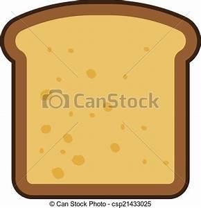 Drawn bread slice bread - Pencil and in color drawn bread ...