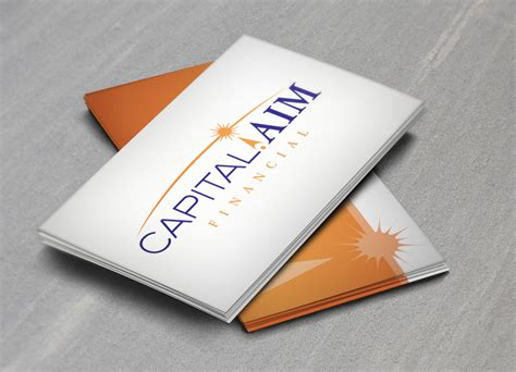 Conception Creative Capital Aim Business Cards Design Website Card Real Estate Calendar Double Notification Quotes Consulting Fiscal Year Reporter Of Events Management