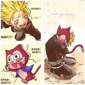 Pics For > Fairy Tail Sting And Lector