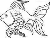 Coloring Pages Goldfish Printable Cool2bkids Fish sketch template