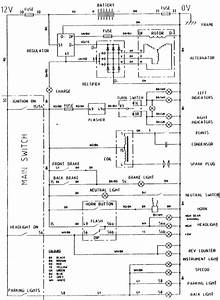 Simplified Wiring Diagram  250 With Rev Counter