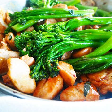 chicken broccolini char siu chicken broccolini stir fry my lovely little lunch box