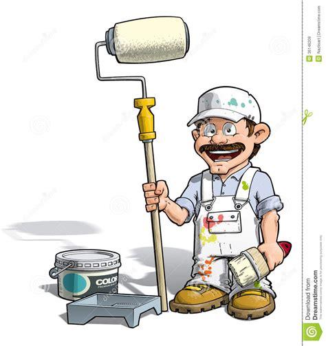 handyman painter stock vector image  paintjob