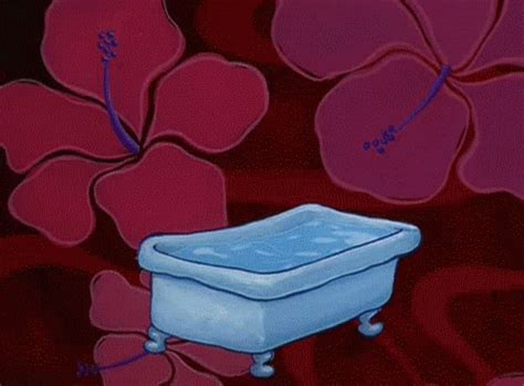 bathtub tub spongebob squarepants falling gif find on giphy