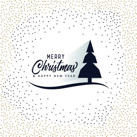merry christmas card design with tree vector free download