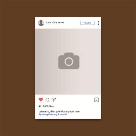 instagram ui screen template design  vector